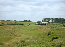 18th with the Clubhouse in the distance