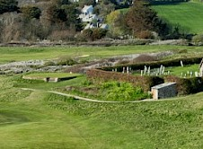 10th green and St Enodoc Church