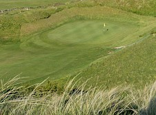 6th Green from on top of the Himalaya bunker
