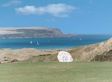 8th tee and estuary beyond