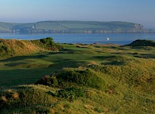 1st Green and estuary beyond