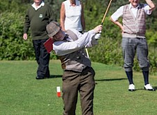 Bit of a struggle off the 1st tee for one talented golfer