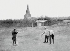 10th green during the match between course designer James Braid and J.H.Taylor