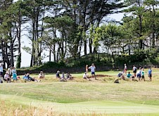 Spectators able to see play on the 9th, 10th and 15th