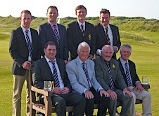 A Team winners St Enodoc with Club Captain John Baxter and team Captain Kenton Williams