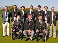 County Captain Steve Rickard (seated centre) with his selected squad to represent the County