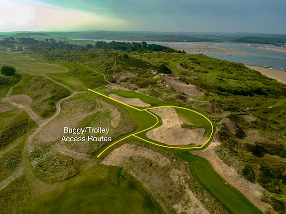 Buggy Route - 18th Tee Complex