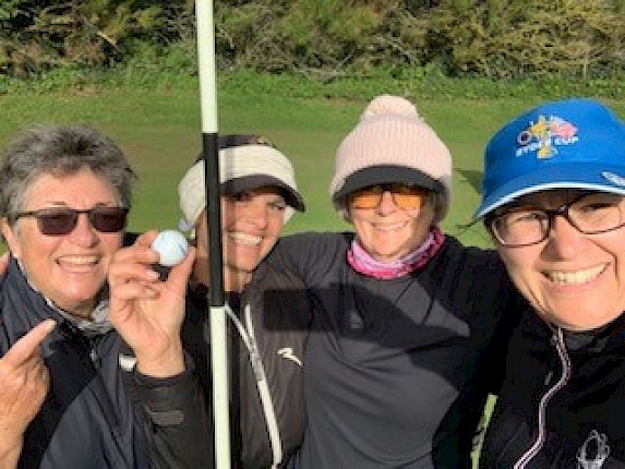 Hole in One in the Winter Foursomes