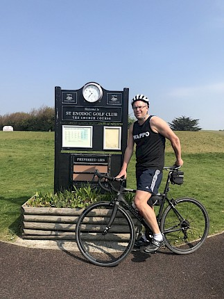 "St Enodoc Chef takes on ""Round the World"" cycle challenge for charity"