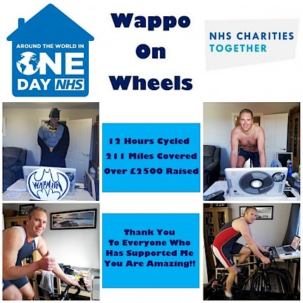 Wappo cracks his 12 hour charity marathon !