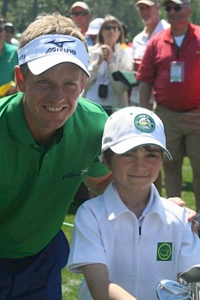 St Enodoc Member caddies for Luke Donald at the Masters