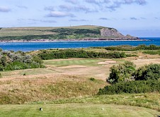 11th green from the back tee